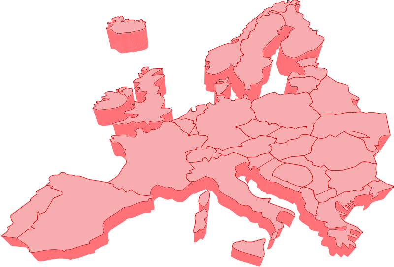 European map 3D Free Vector / 4Vector