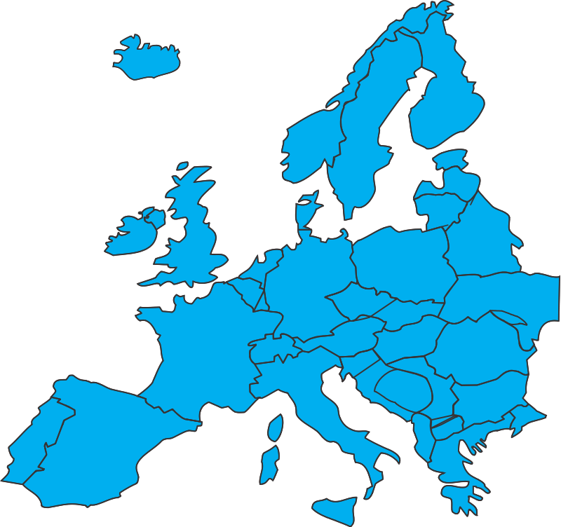 free vector European map