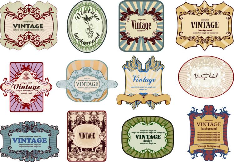 European Nostalgia Bottle Label 02 Vector Free Vector  Free Wine Bottle Label Templates
