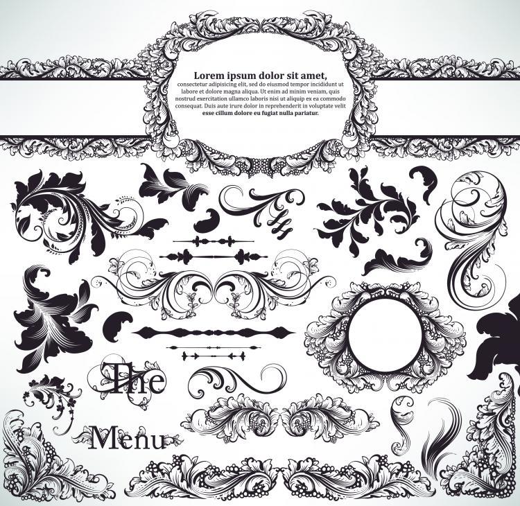 European Pattern 03 Vector Free Vector 4vector