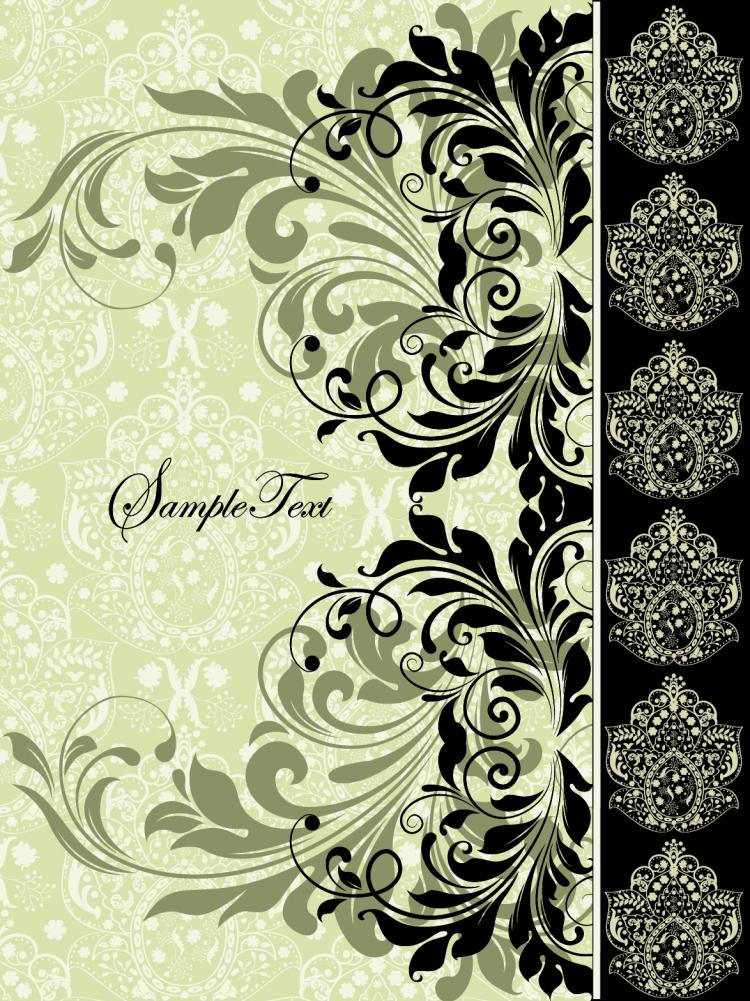 free vector European pattern background 03 vector