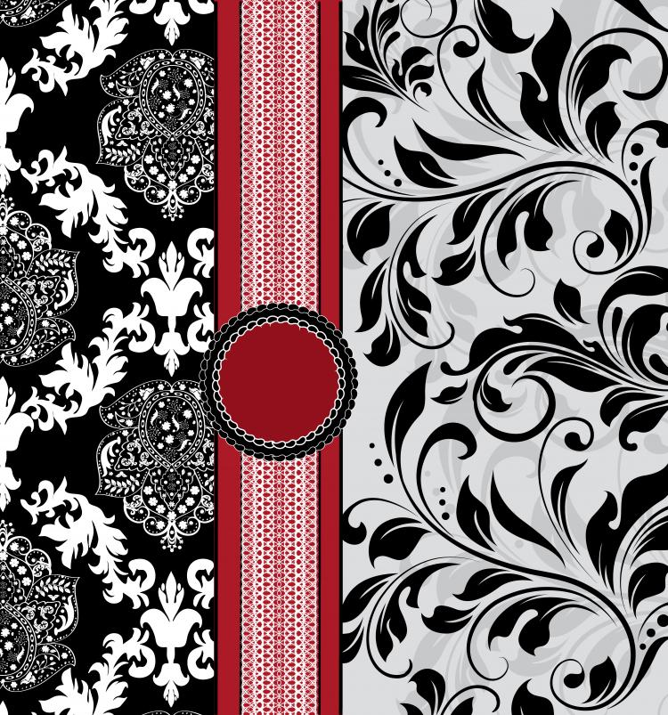 free vector European pattern background cover 01 vector