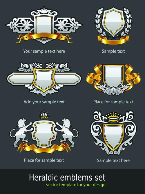 free vector European pattern badge 02 vector