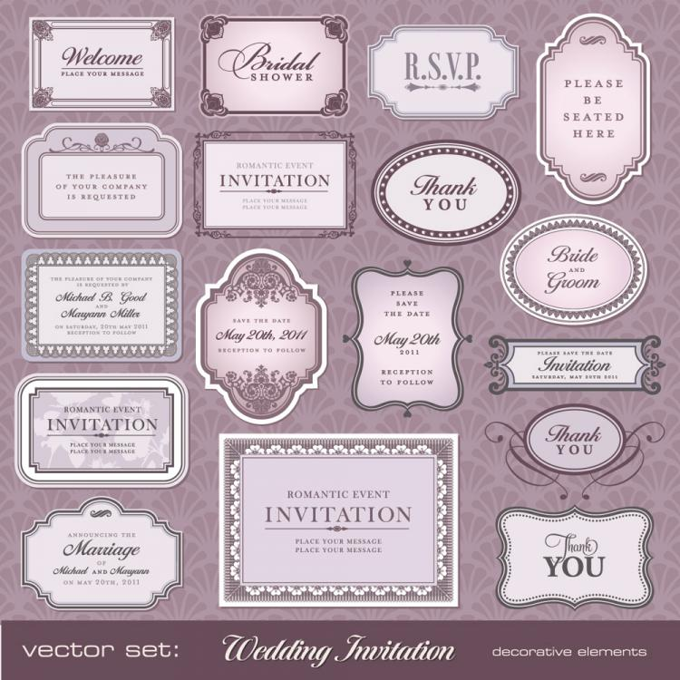 free vector European pattern bottle label 02 vector