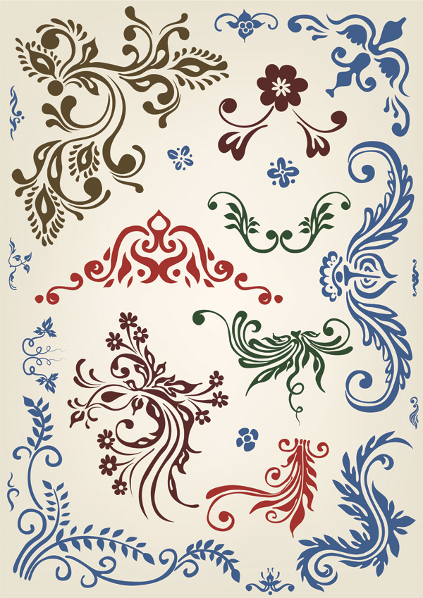 free vector European pattern element vector 23403