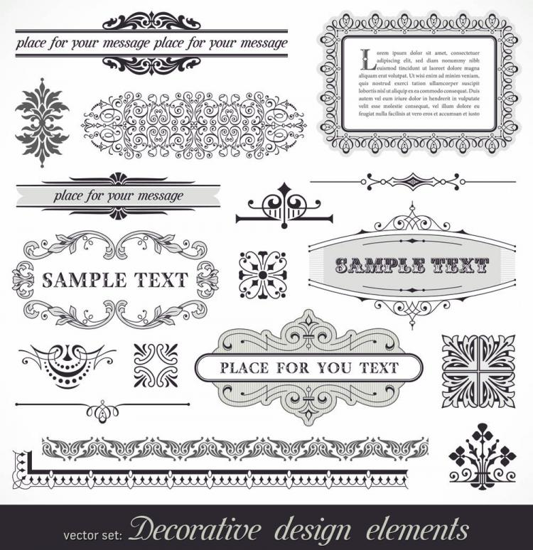free vector European pattern frame 01 vector