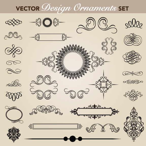 free vector European pattern garland 05 vector