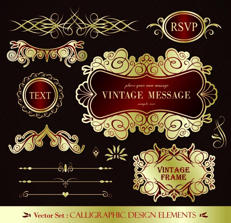 free vector European pattern of label 01 vector