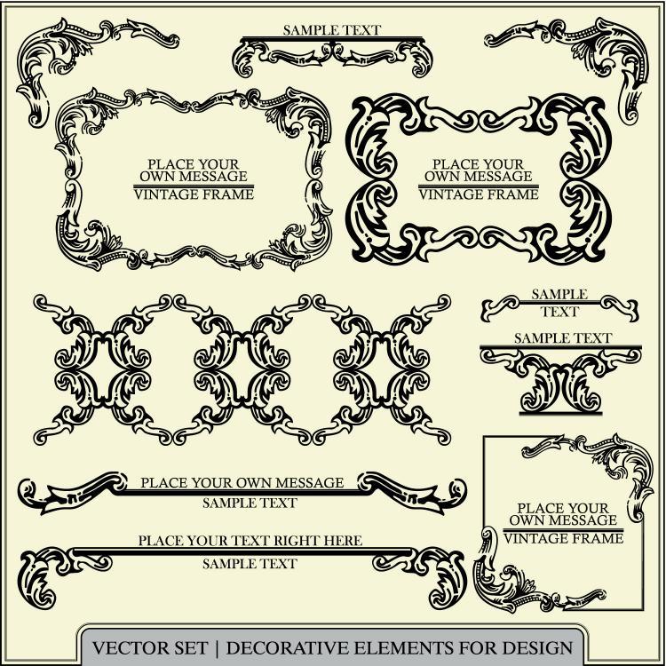 free vector European pattern of patterns 01 vector