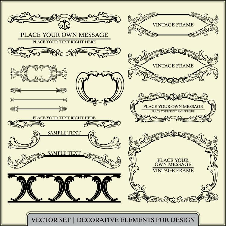 free vector European pattern patterns 02 vector