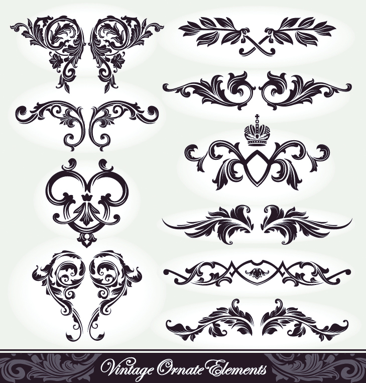 free vector European pattern patterns 05 vector