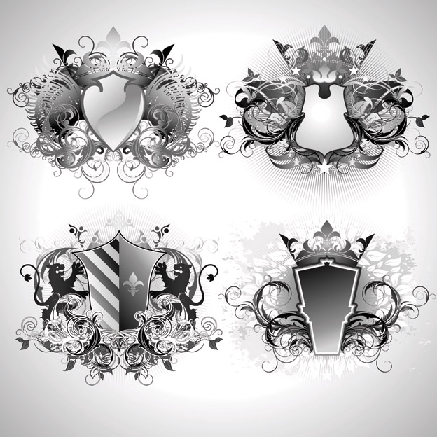 free vector European pattern shape of the vector