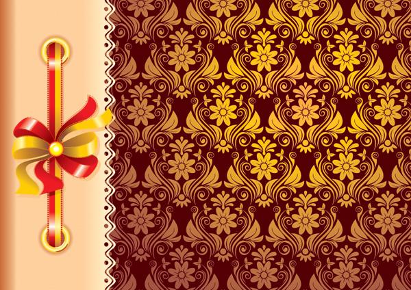 free vector European pattern vector ribbon photo