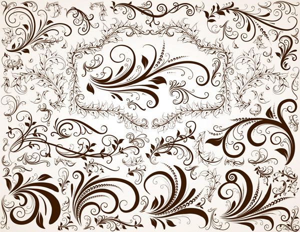 free vector European pattern vector