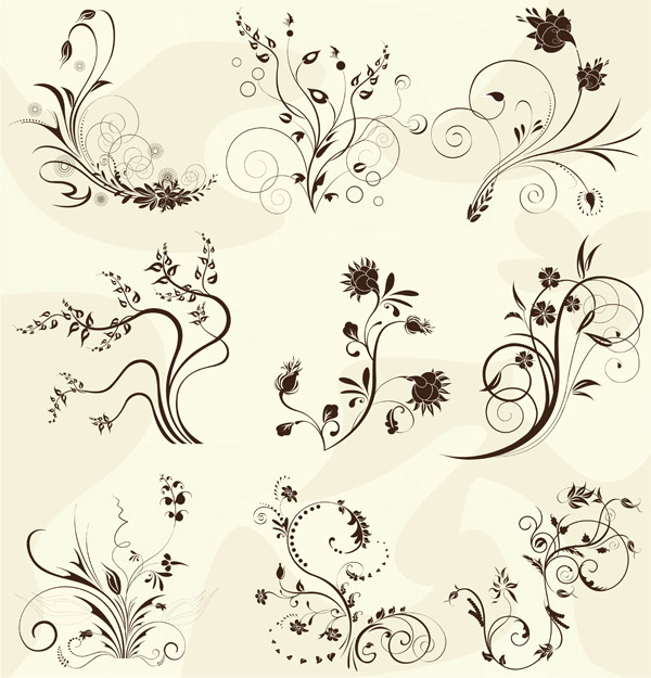 free vector European pattern vector