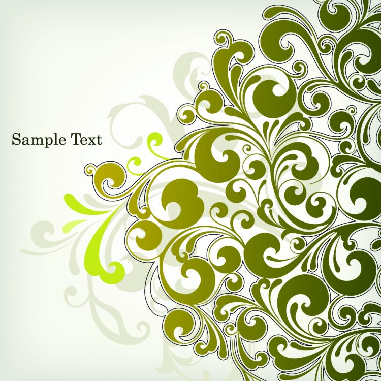 free vector European plant pattern background vector 4