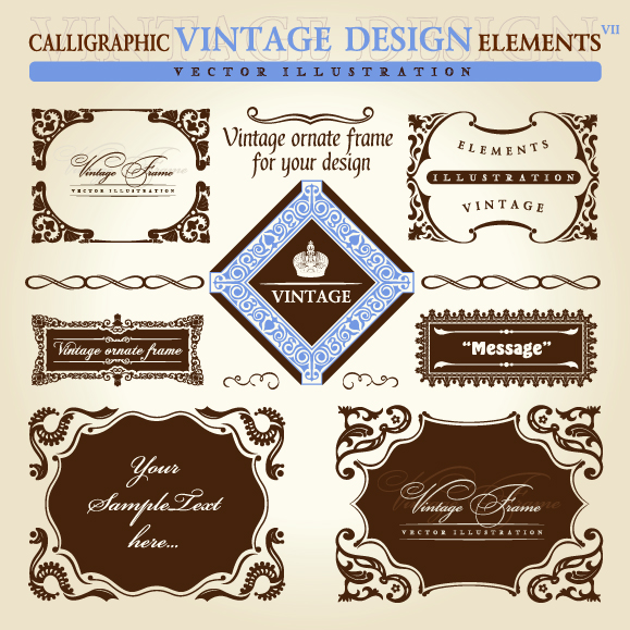 free vector European retro lace pattern vector