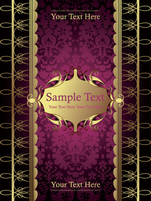 free vector European scene when the cover template pattern vector