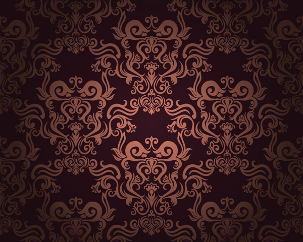 free vector European super beautiful shading pattern vector 2