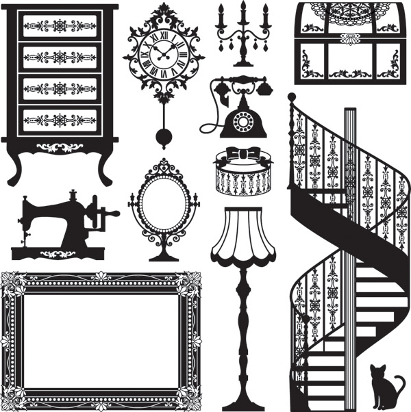 free vector Europeanstyle home vector