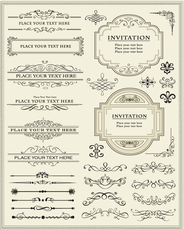 free vector Europeanstyle lace border 01 vector