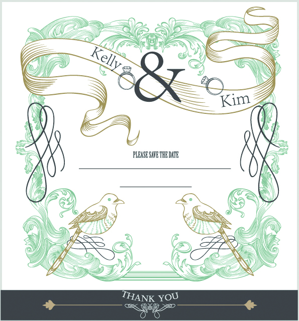 free vector Europeanstyle lace border 02 vector 6236