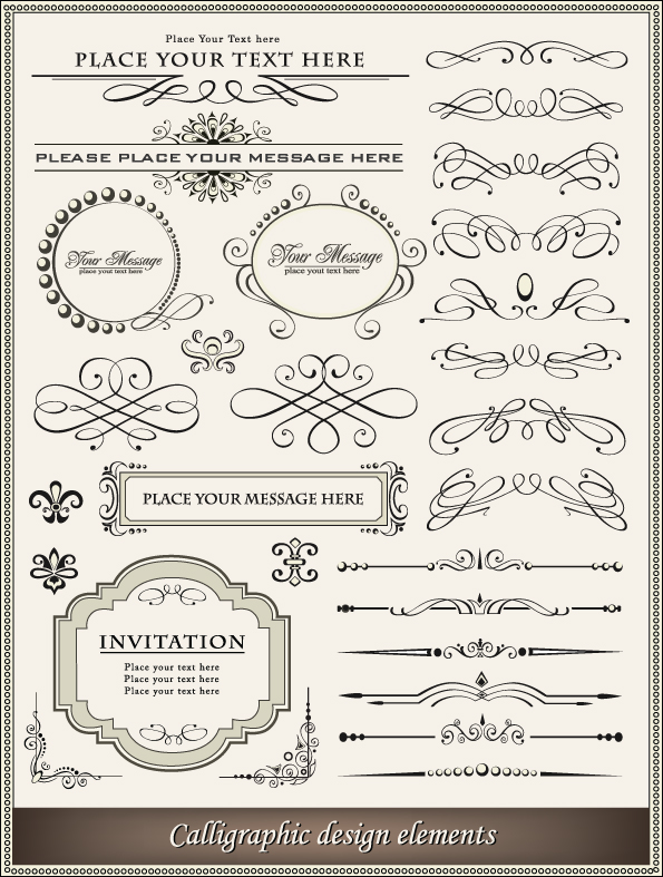 free vector Europeanstyle lace border 02 vector