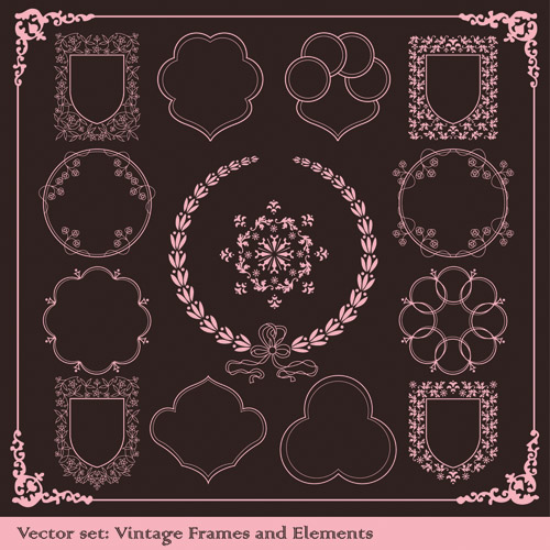 free vector Europeanstyle lace border vector classic