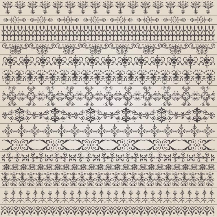 free vector Europeanstyle lace pattern 01 vector
