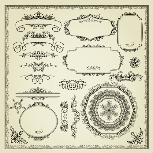 free vector Europeanstyle lace pattern 03 vector