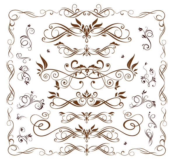 free vector Europeanstyle lace pattern vector fashion