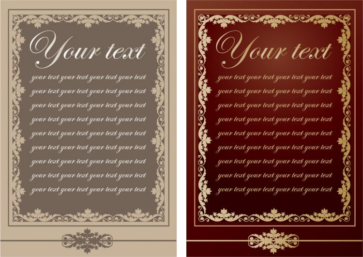 europeanstyle lace pattern vector menu templates free vector 4vector