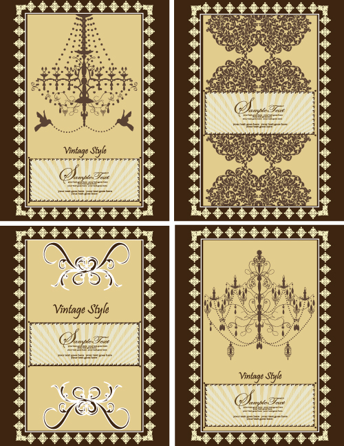 free vector Europeanstyle lace pattern vector