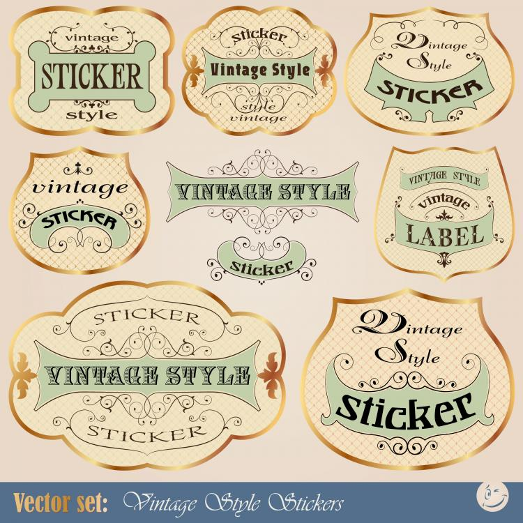 free vector Europeanstyle lace tag 01 vector