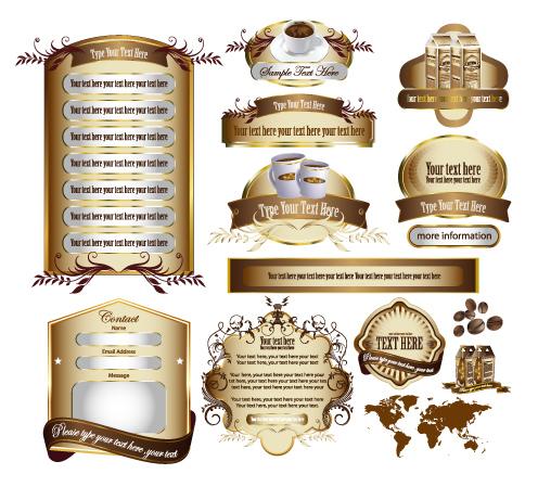 free vector Europeanstyle restaurant information template vector