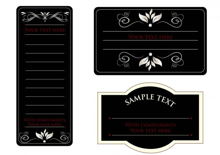 free vector Europeanstyle simple patterns invitation card 01 vector