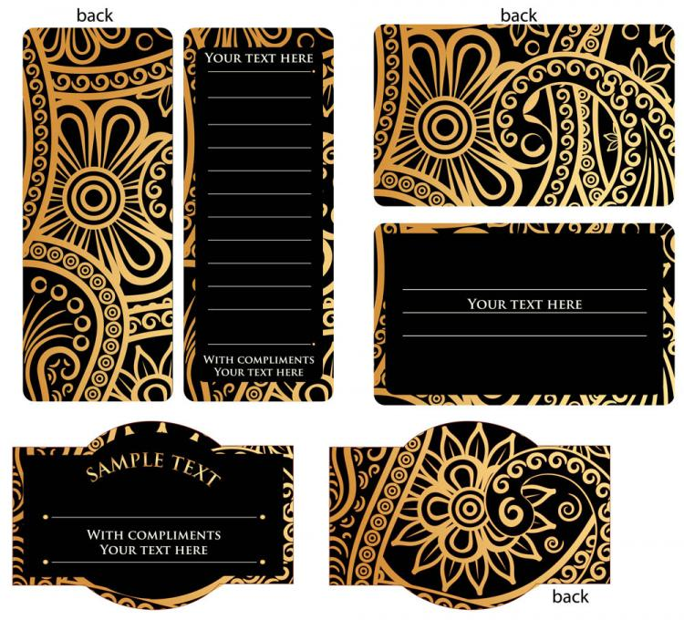 free vector Europeanstyle simple patterns invitation card 02 vector