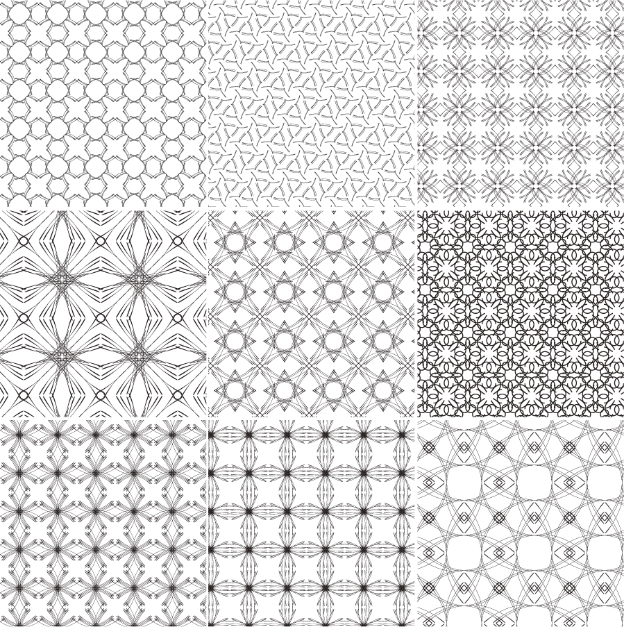free vector Europeanstyle tiled background pattern vector