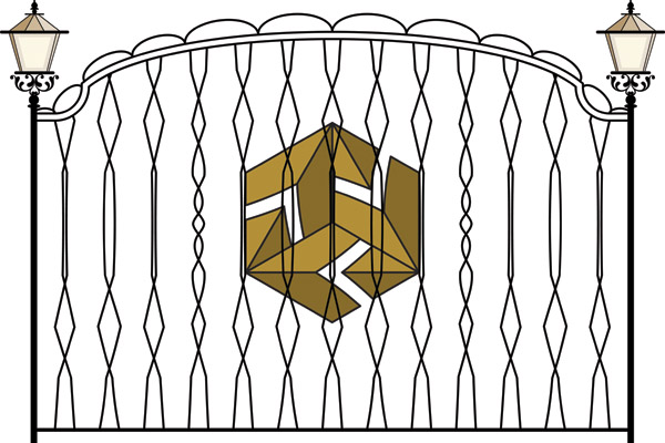 free vector Europeantype pattern iron fence 03 vector