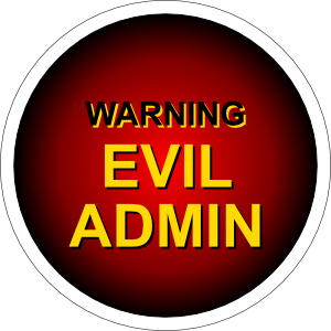 Fine Evil Admin Warning Clip Art Free Vector 4Vector Short Hairstyles For Black Women Fulllsitofus