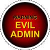 free vector Evil Admin Warning clip art