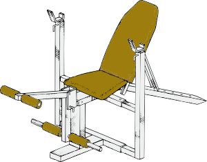 free vector Exercise Bench clip art