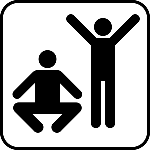 free vector Exercise  Or Gym Area clip art