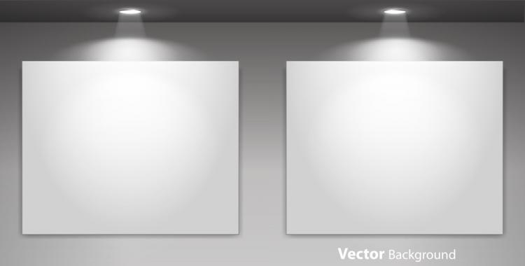 free vector Exhibition display 03 vector
