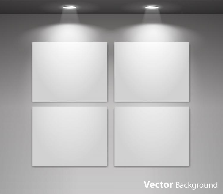 free vector Exhibition display 04 vector