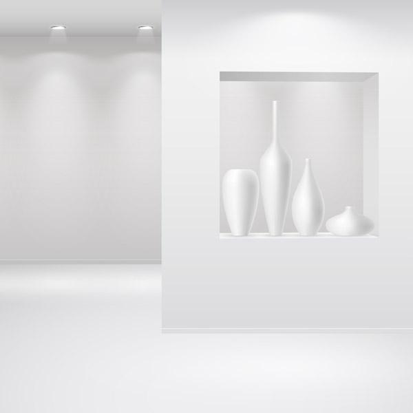 free vector Exhibition gallery template vector 3