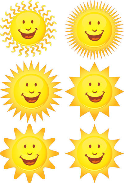 free vector Expression vector cute sun