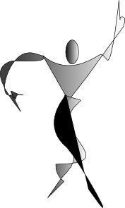 free vector Expressionist Male Silouhette clip art