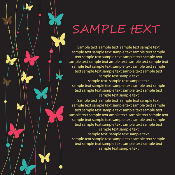 free vector Exquisite card background vector