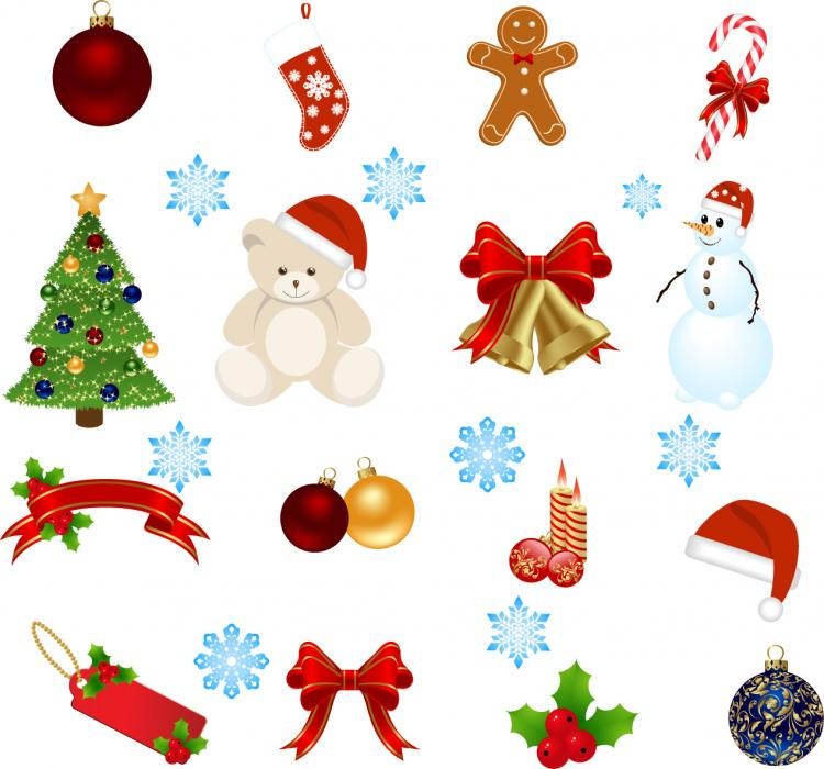 Christmas decor vector free download